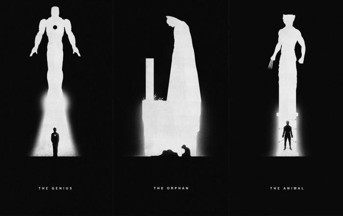 «Superheroes – past/present» por Khoa Ho